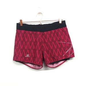 Salomon Park 2 in 1 Running Shorts Size Medium